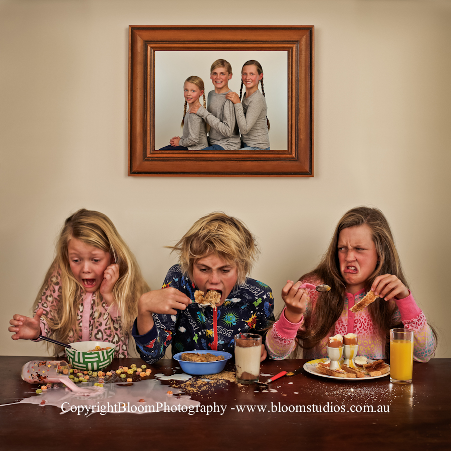 "Silver Award / Portrait Category - ""My Perfect Family"""