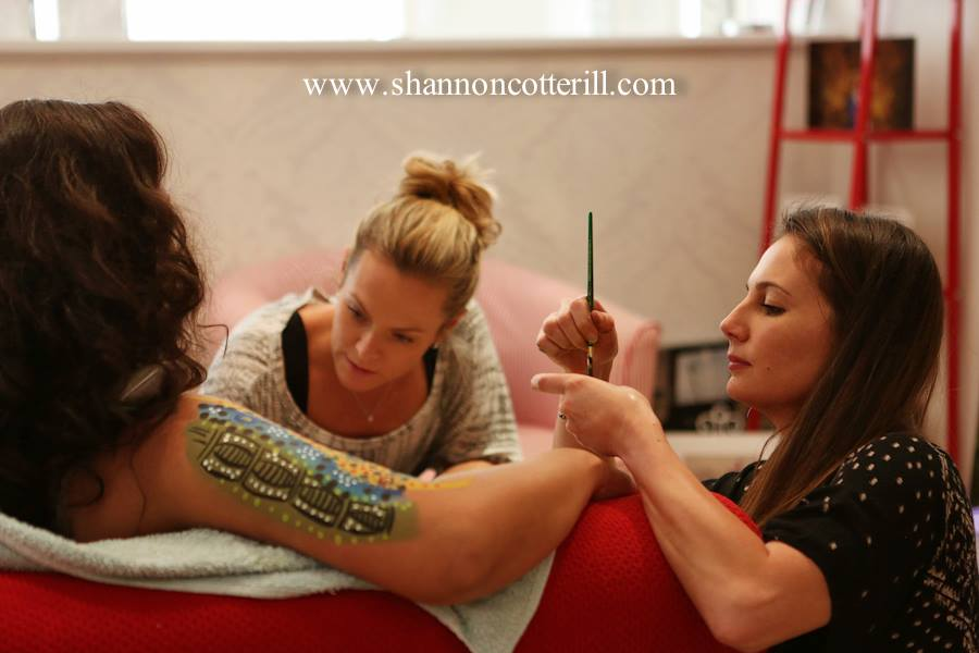 Karen & Sahra working their magic - these ladies are truly incredible at breathing life into my ideas xx