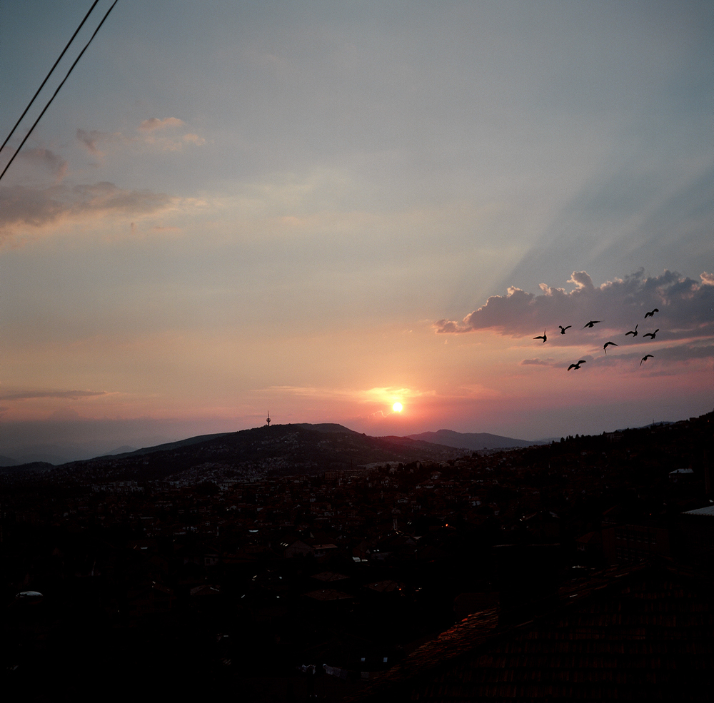 Sunset. Sarajevo, Bosnia and Herzegovina, August 2012.