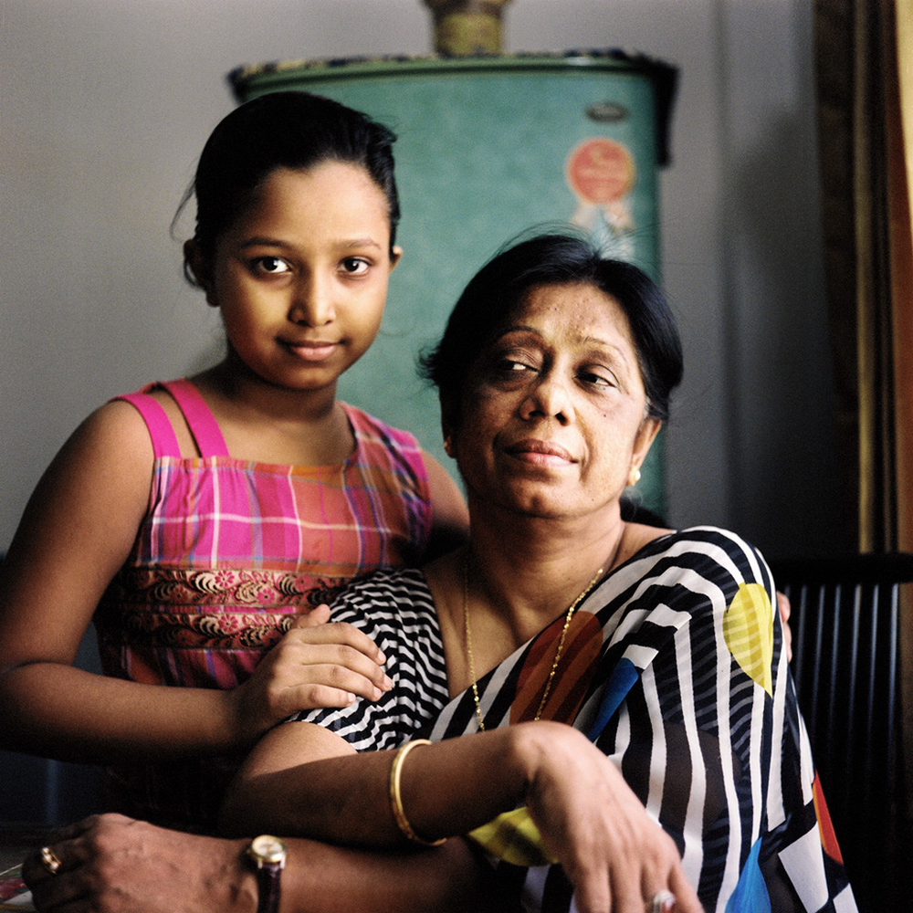 Begum Gulferdous, with granddaughter. Comilla, Bangladesh, August 2011.