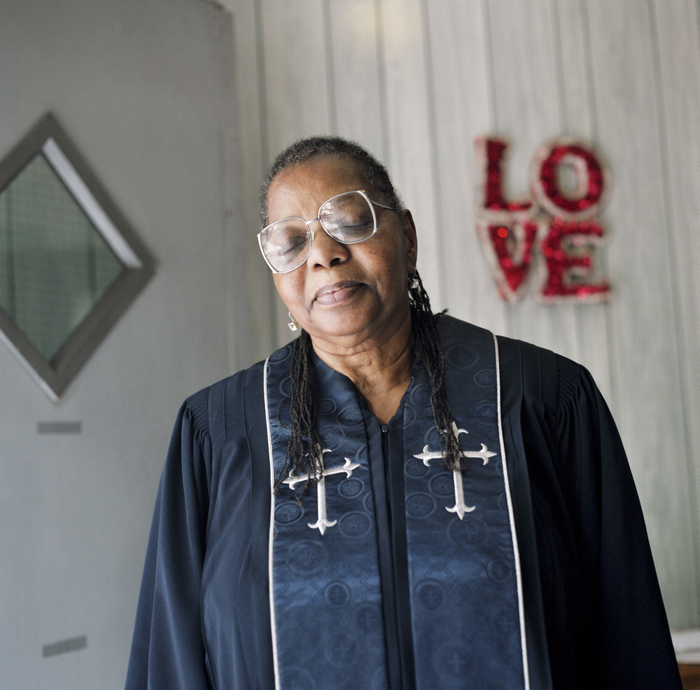 A series on female pastors in Brooklyn, who are becoming increasingly common as churches open up in alternative spaces, such as storefronts and homes, across the borough. Produced for The New York Times. See the full story  here . Pictured: Linda Laney at her church, the Timothy Baptist Church in Brooklyn.