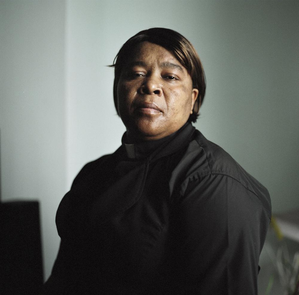 Debbie Jackson, a pastor, at her home in Bushwick, Brooklyn.
