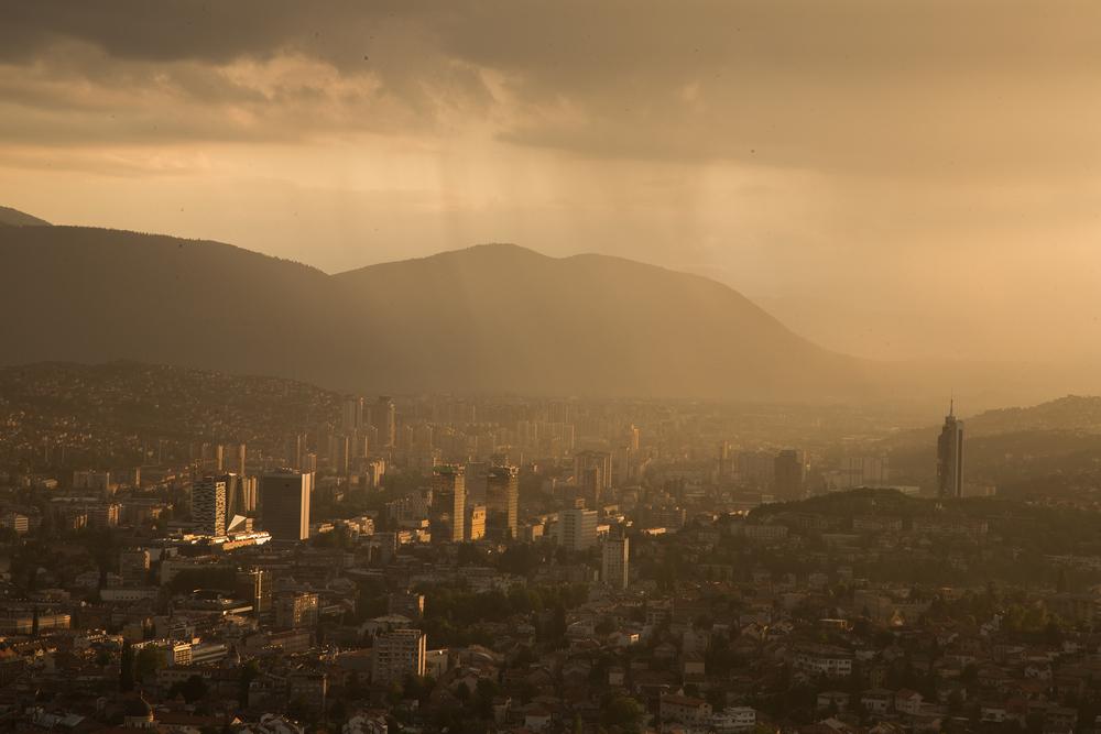 Sarajevo at sunset.
