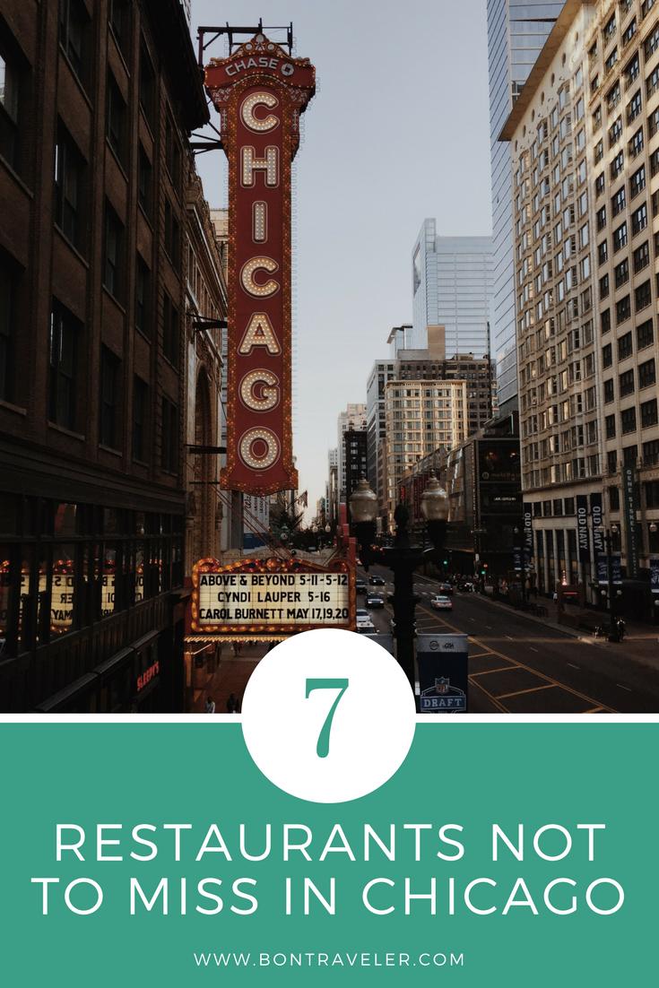 7 Restaurants Not to Miss in Chicago