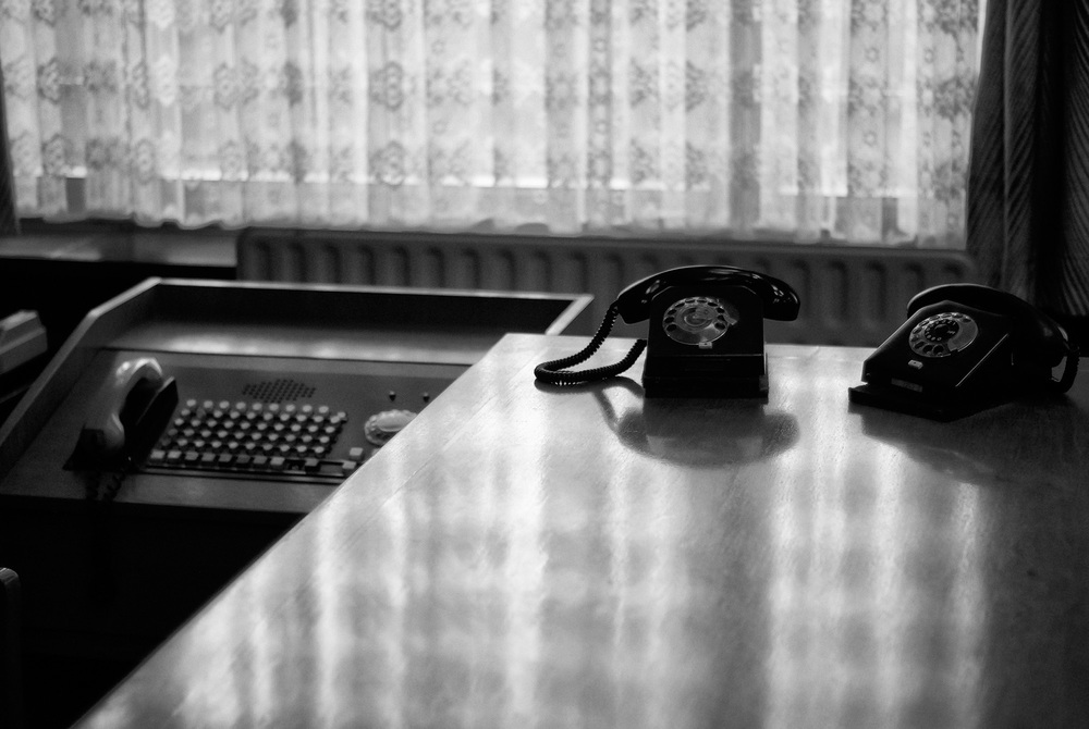 STASI LEADER   Telephones sit bathed in afternoon sunlight on the former desk of Stasi minister Erich Mielke. It was from this office the man, considered to be the most powerful in East Germany, ordered the arrests, kidnappings, tortures and murders of thousands of German citizens.