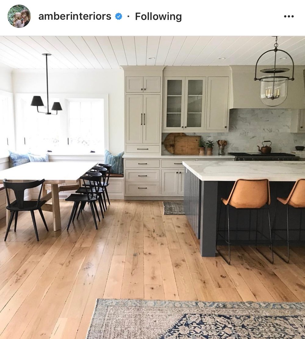 To get started, the photo above is an inspiration photo from  Amber Interiors  I dug up that is the closest to what our kitchen will look like.