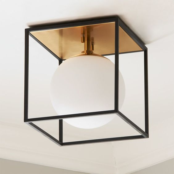 Boxed Globe Ceiling Light-small  ($199)