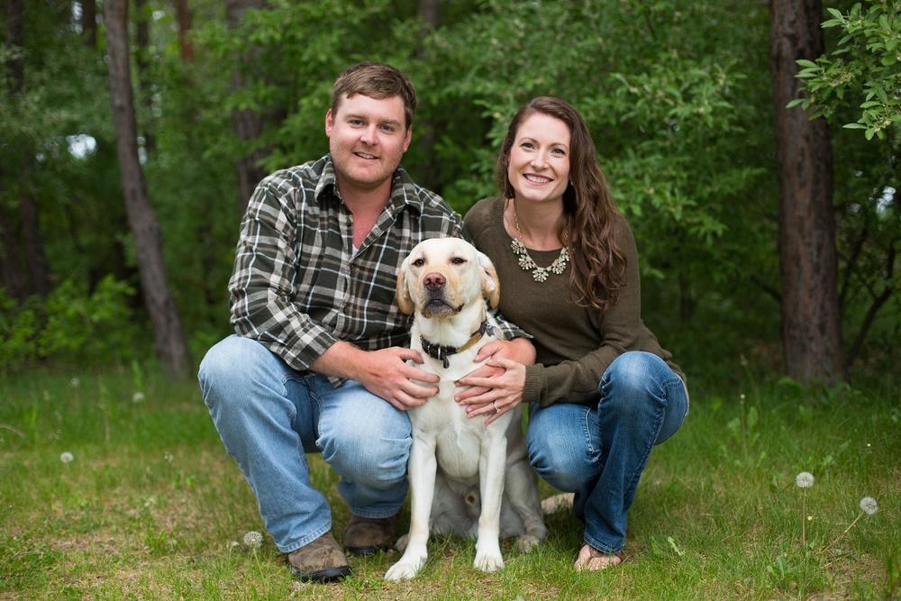Engaged-couple-with-dog