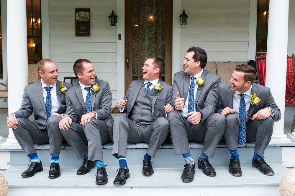 Groomsmen on steps