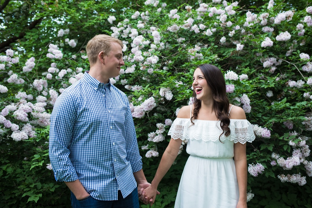 Engagement pictures in a garden