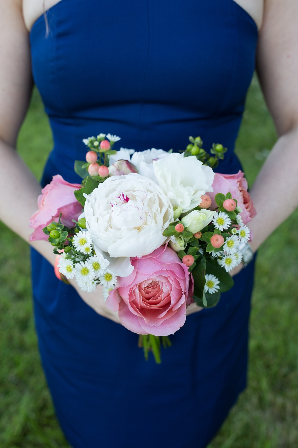 Bridesmaid Bouquet with Peonies