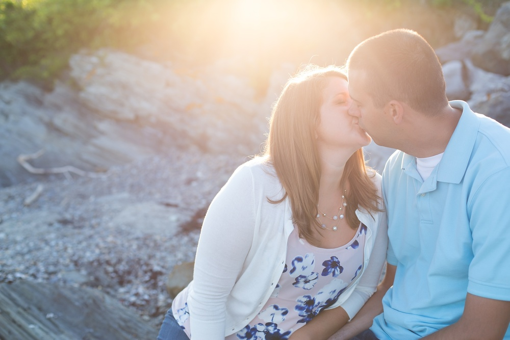 Engagement session on Maine beach