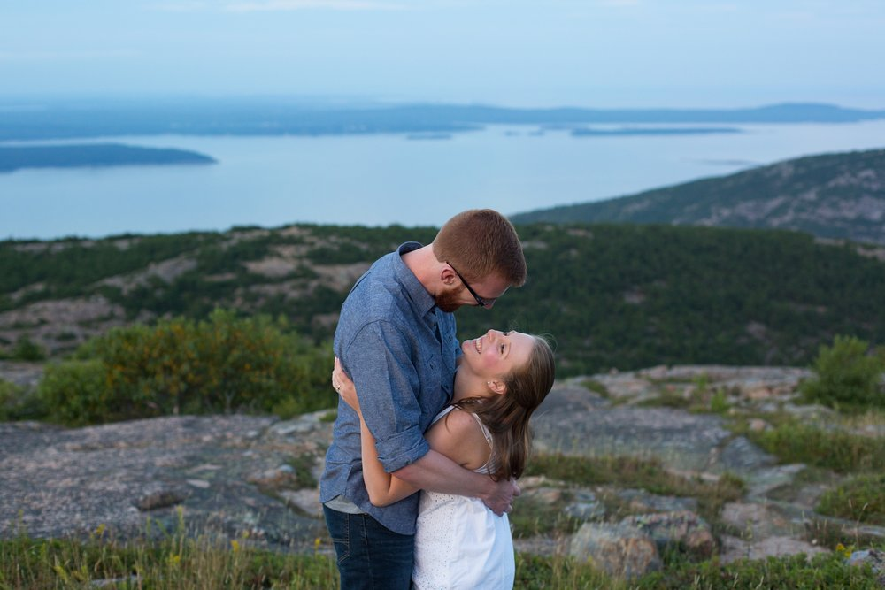 Engagement session on cadillac mountain