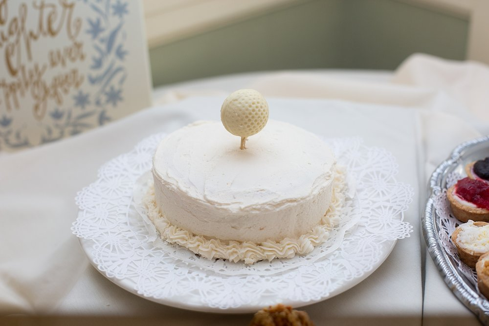 golf tee wedding cake