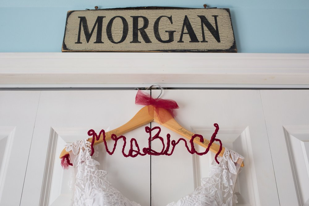 Bridal gown name hanger