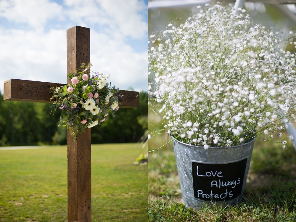 cross wedding arbor