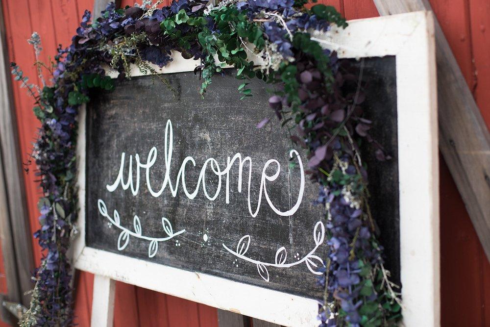 Wedding Welcome Chalk sign