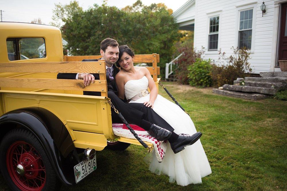 Maine bride and groom portraits