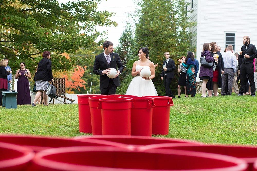 Maine wedding lawn games