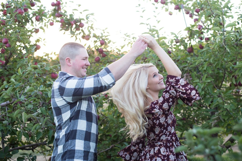 Engagement Session at Apple Orchard