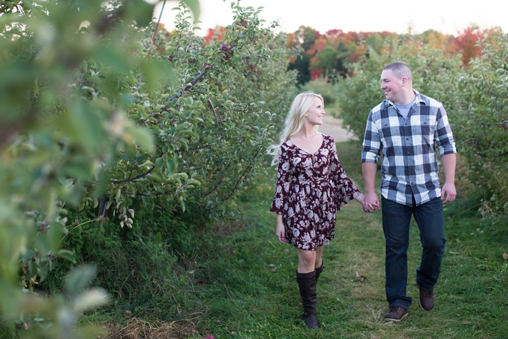 Engagement Session at Treworgy Orchards