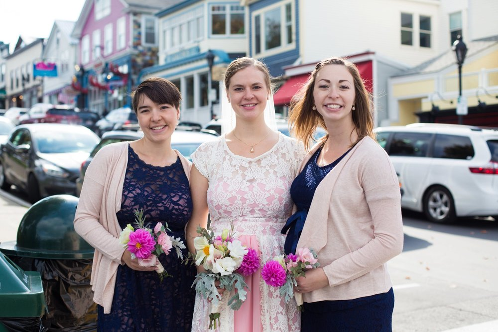 downtown bar harbor wedding pictures