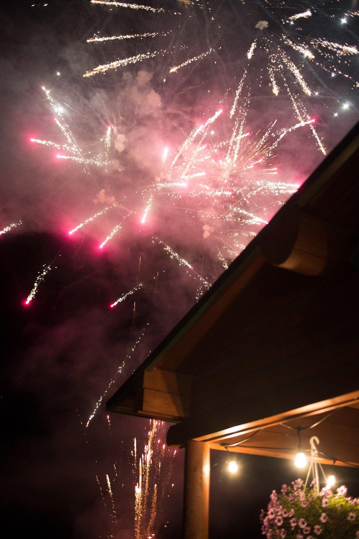 having fireworks at a wedding