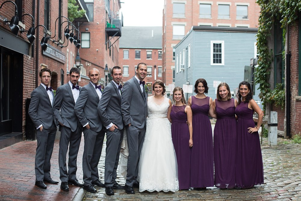 downtown Portland Maine Wedding photos