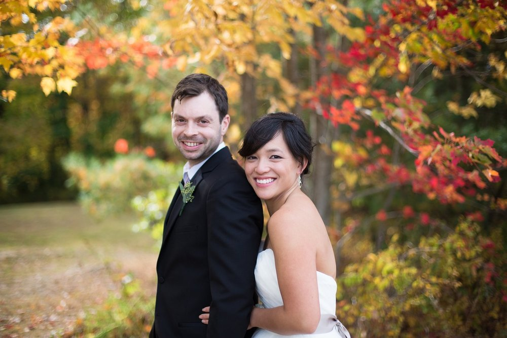 Maine fall wedding