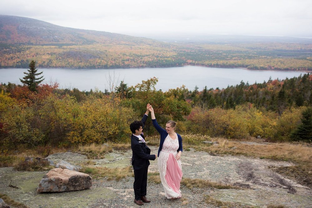 Eloping in Acadia National Park