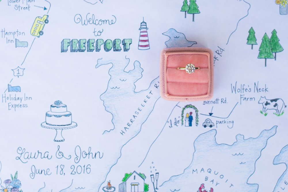Wedding day guest maps