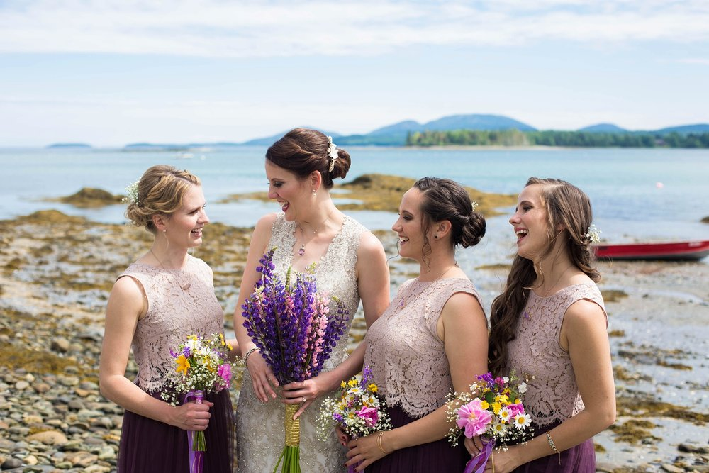coastal wedding bridesmaids