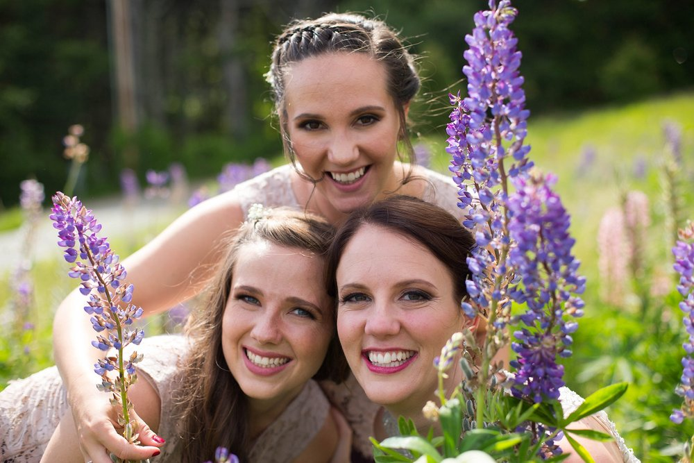 lupine wedding shoot