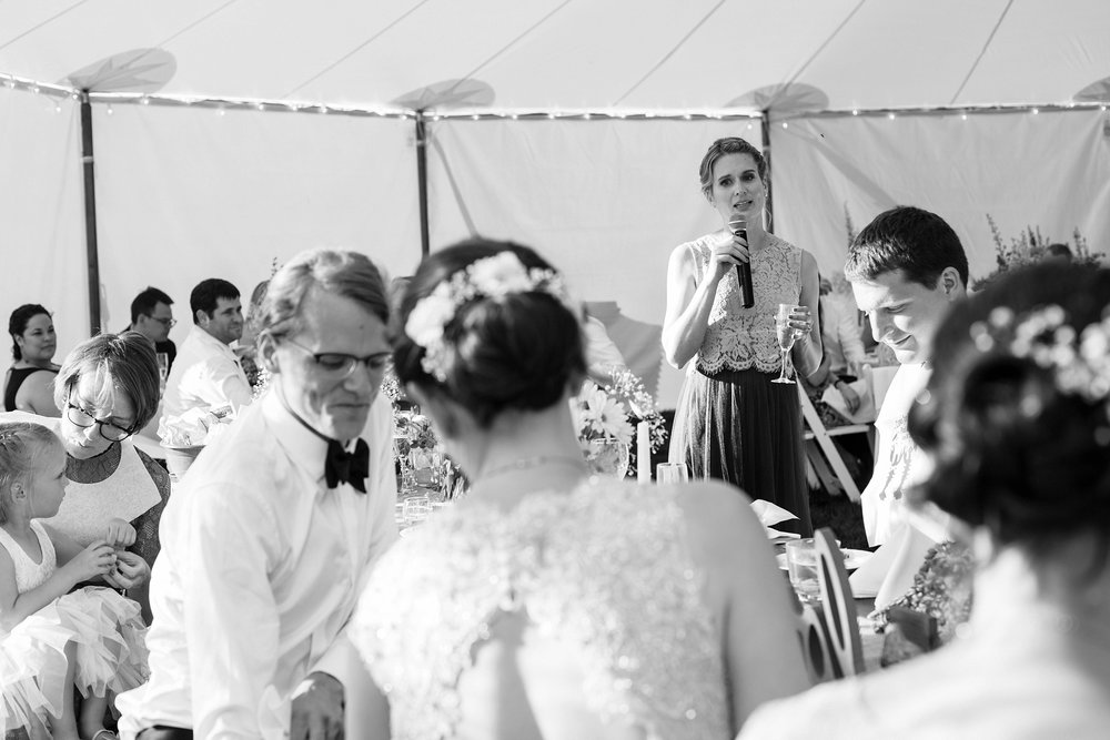 Wedding party speeches