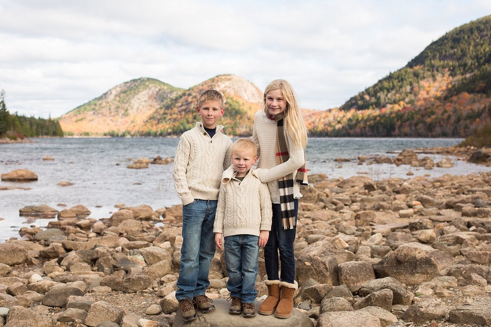 family photographer bar harbor maine
