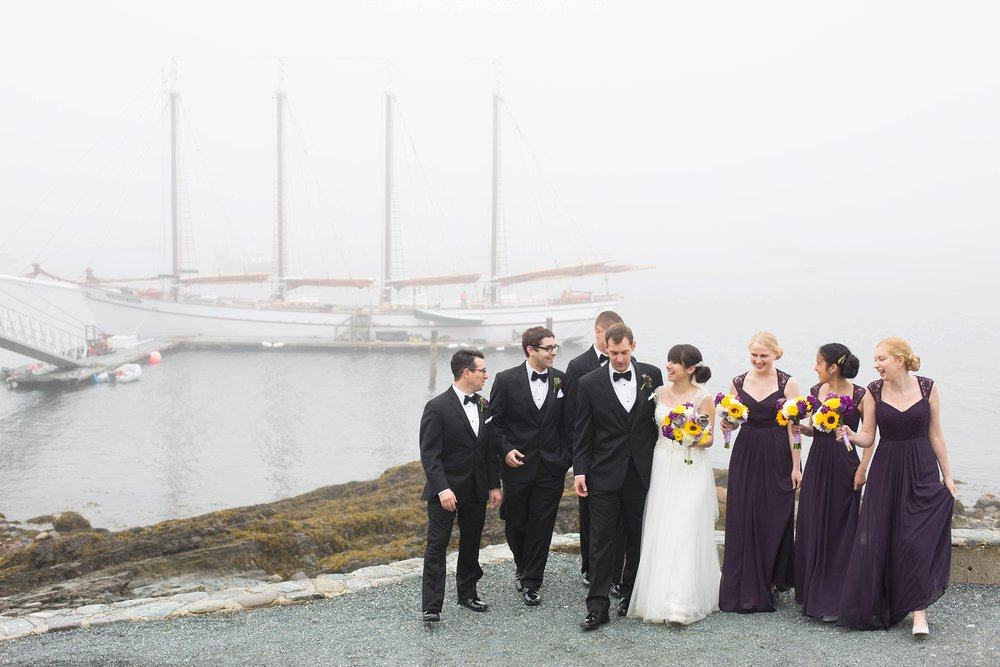 bar harbor bridal party