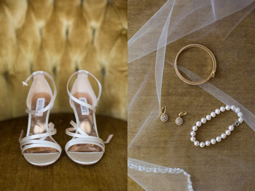 brides shoes and jewelry