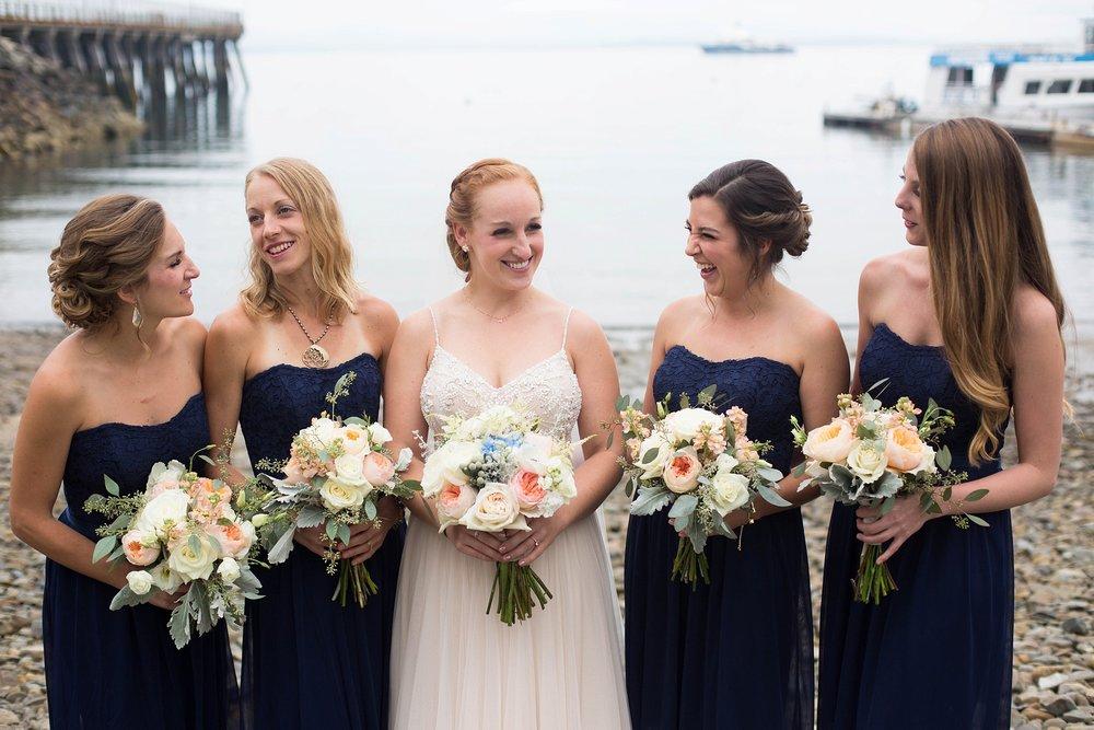 coastal Maine bridesmaid pictures