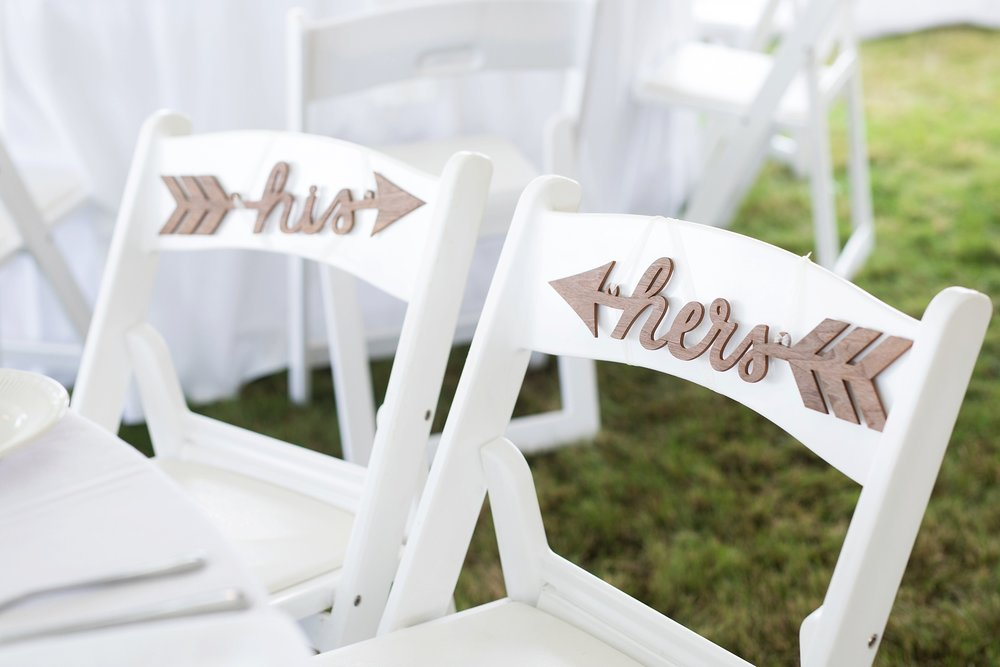his and hers wedding signs