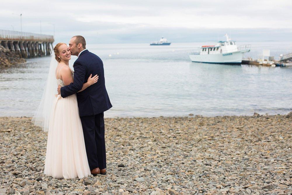 Maine wedding photos on beach