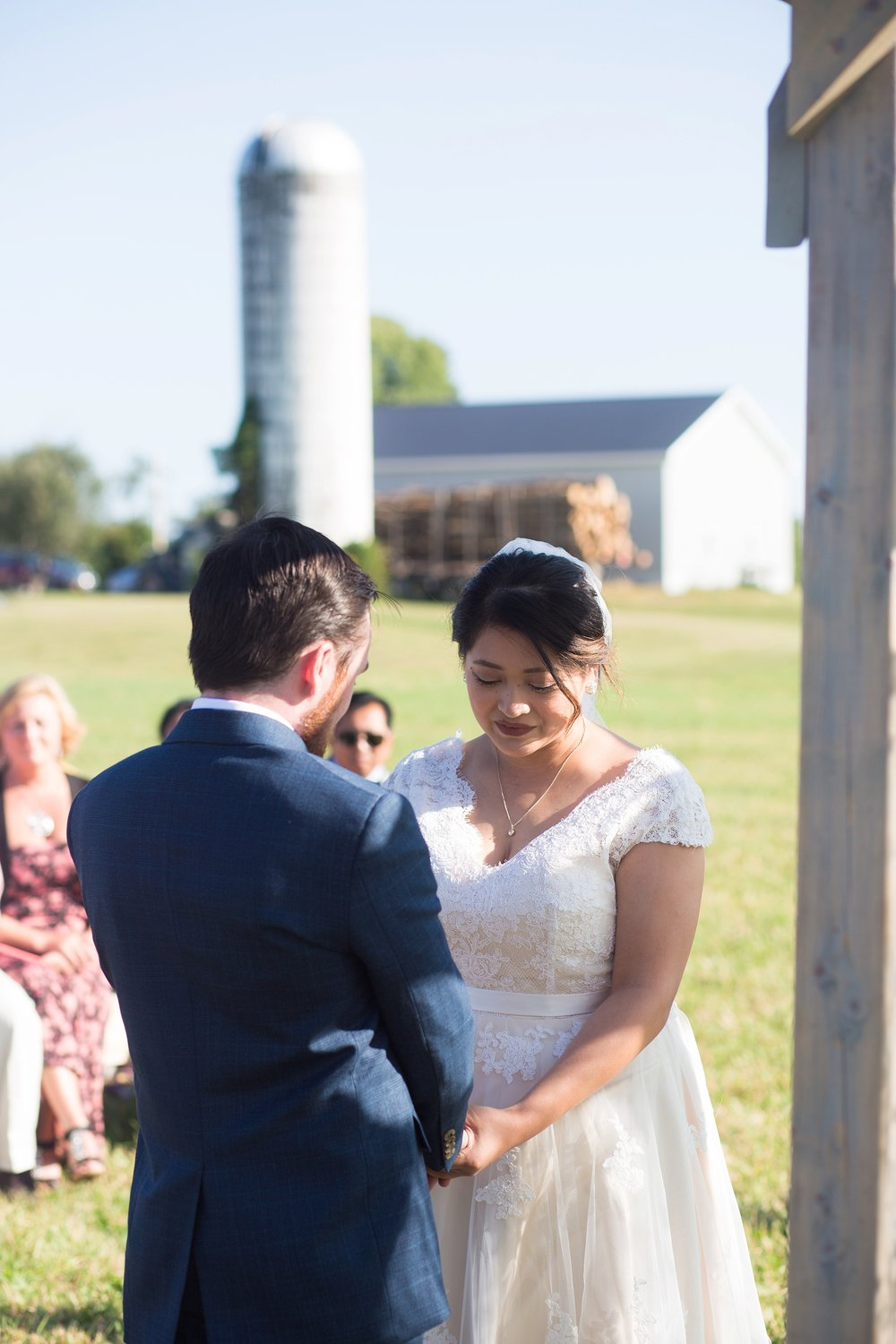 Maine farm wedding