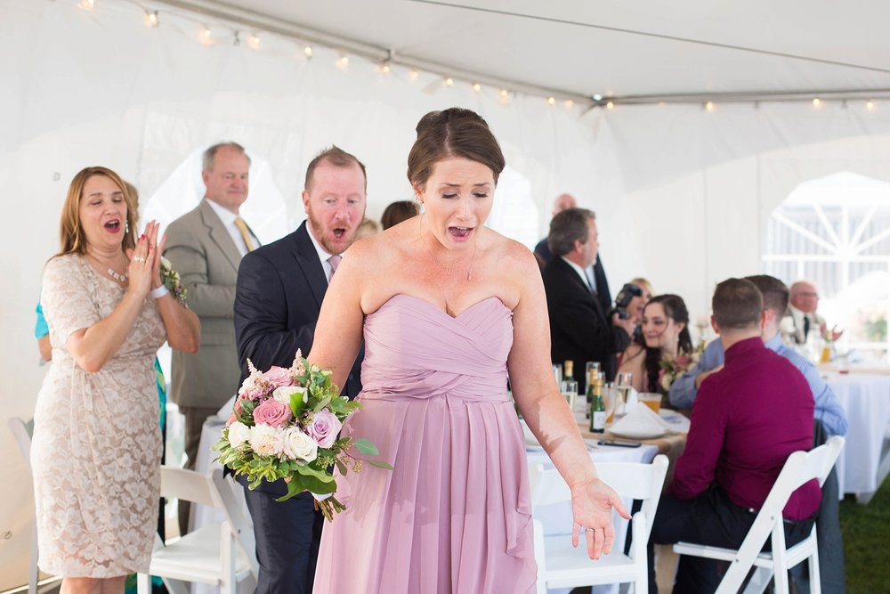 shocked bridesmaid