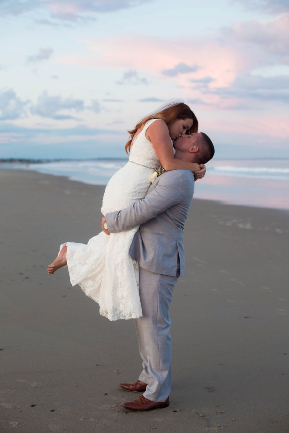 maine beach wedding photos