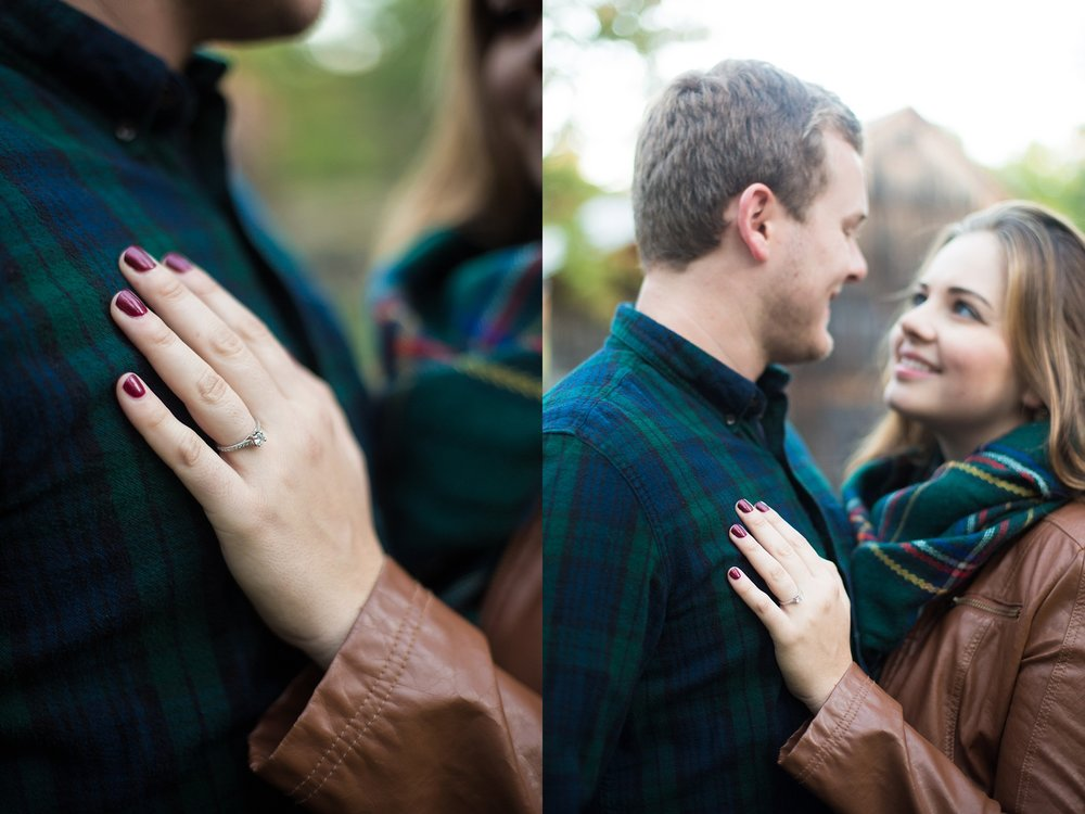 rustic fall engagement photos
