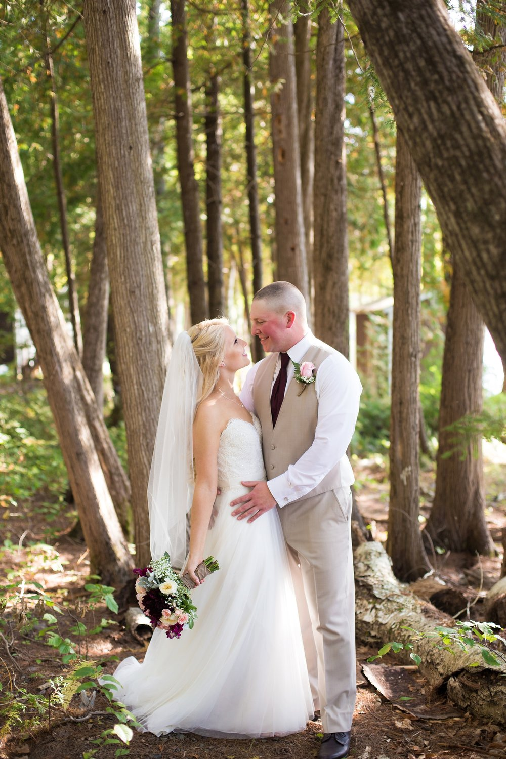 wedding in woods