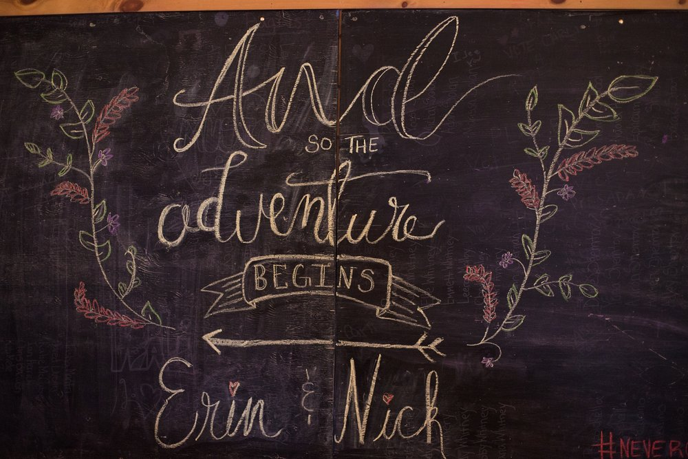Wedding chalkboard art