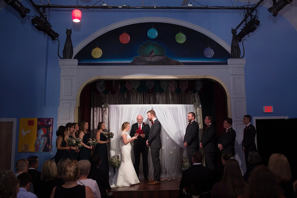 Portland Maine theater wedding