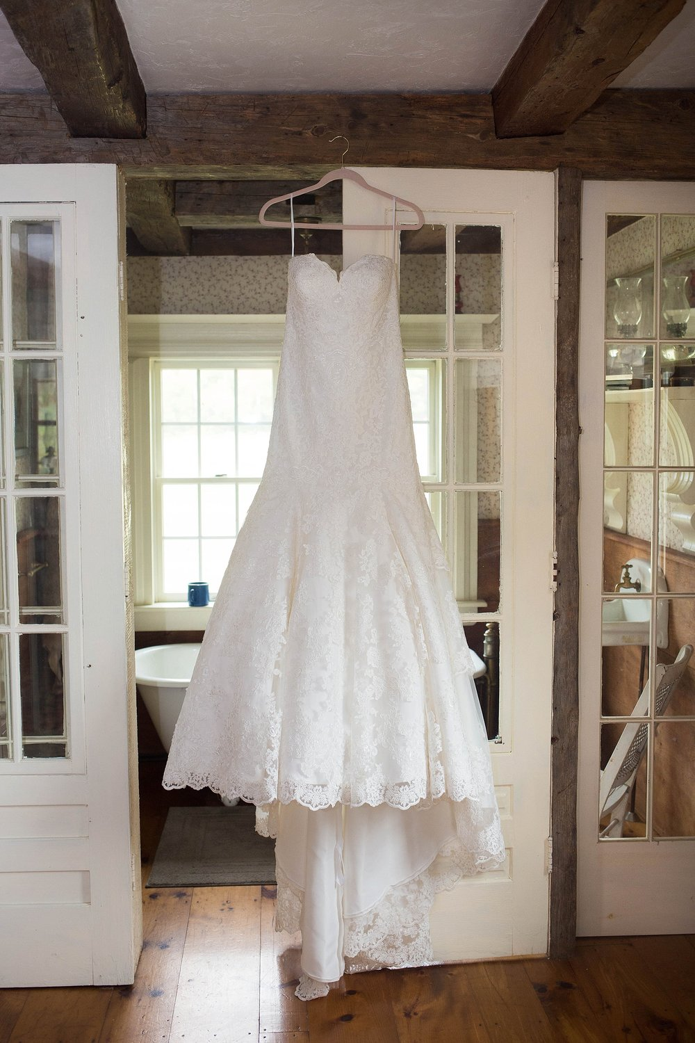 rustic bridal gown