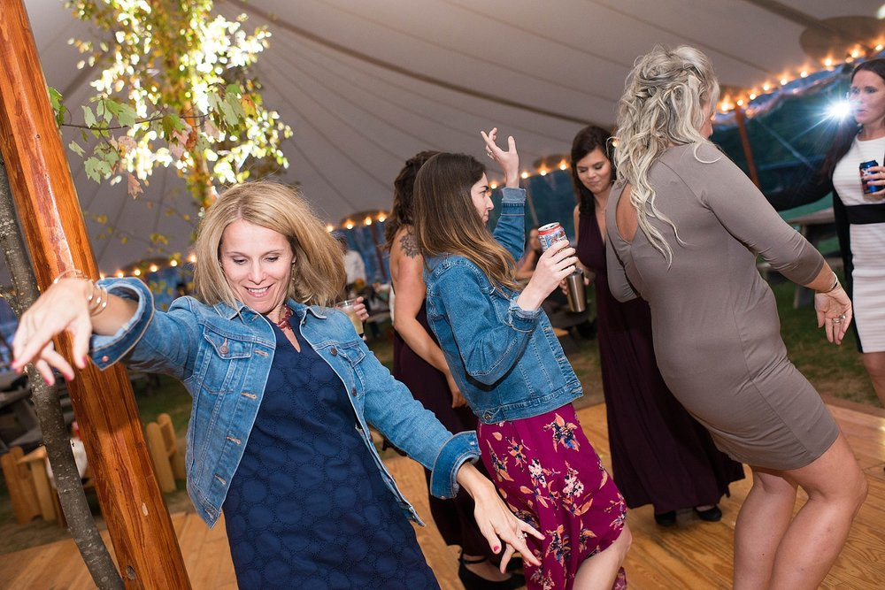 maine tented wedding reception