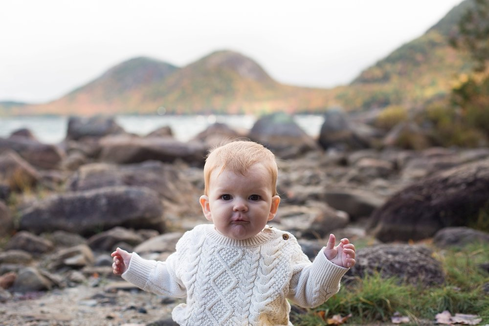 baby photos acadia national park